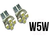 Ampoules LED W5W - Feux de Position-Veilleuses - Front 5