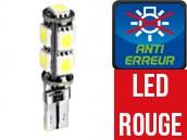Ampoule Led W5W ROUGE - Xtrem 9 - Anti-erreur ODB