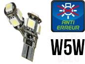 Ampoules Led W5W - Feux de Position-Veilleuses - Xtrem 5 - Anti-erreur ODB