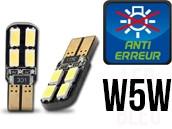 Ampoules Led W5W - éclairage Plaque - Dual Face 8 - Anti Erreur ODB