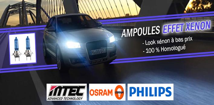 Ampoules effet xenon h1 h3 h7 h8 h11 hb3, pour auto moto voiture