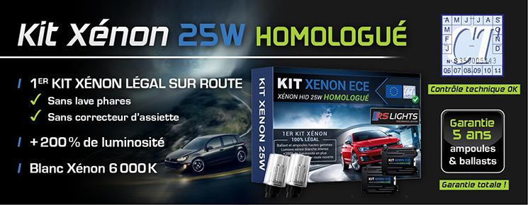 Kit Xénon Voiture 25W - Homologué